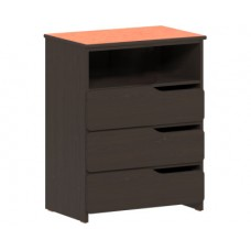 Apollo 3 Drawer Chest w/Top Storage Shelf, 36″W