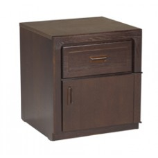Beachcomber Nightstand w/Top Drawer & Compartment Door