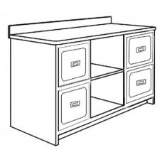 "Beachcomber Media Cabinet w/4 Drawers & 2 Open Compartments, 60""W"