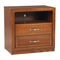 "Beachcomber Media Chest w/2 Drawers & 1 Top Open Compartment, 30""W"