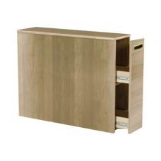 Woodcrest Reversible Bedside Storage Unit w/Pullout Drawer & 2 Interior Shelves