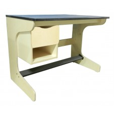 "Aero Cantilever Study Desk w/1 Drawer &  1 Storage Compartment, 42""W"