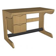 "Aero Cantilever Study Desk w/2 Drawers, 42""W"