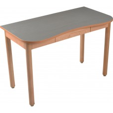 "Aero Contour Study Desk w/Pencil Drawer, 45""W"