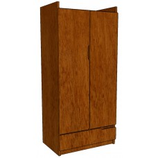 "Apollo Double Door Wardrobe w/1 Bottom Drawer, 36""W"