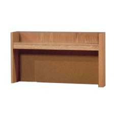 "Beachcomber Single Shelf Carrel w/Closed Back, 36""W"