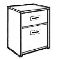 Contempo Desk Pedestal w/1 Box & 1 File Drawer
