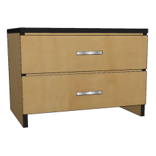 "Contempo 2 Equal Drawer Chest, 30""W"