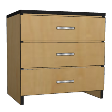 "Contempo 3 Equal Drawer Chest, 30""W"