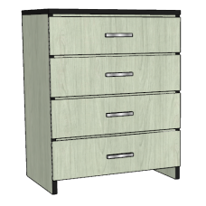 "Contempo 4 Equal Drawer Chest, 30""W"