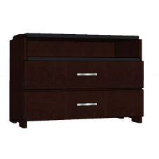 "Contempo 2 Drawer & Top Open Compartment Stackable Chest, 36""W"
