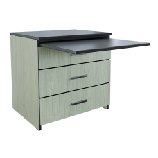 "Contempo Alternative Workspace: 3 Equal Drawer Chest w/Pull-Out Work Surface, 30""W"