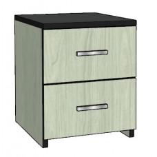Contempo Desk Pedestal w/2 Equal Drawers