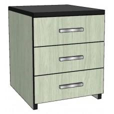 Contempo Desk Pedestal w/3 Equal Drawers