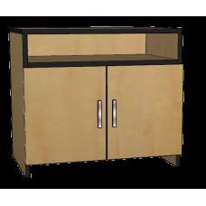 Contempo Media Stand w/2 Doors, Shelf Behind Doors & Top Shelf