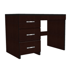 "Contempo Panel End Pedestal Desk w/3 Box Drawers & Pencil Drawer, 45""W"