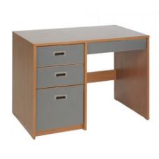 """Contempo Panel End Pedestal Desk w/2 Box Drawers, 1 File Drawer & Pencil Drawer, 42""""W"""