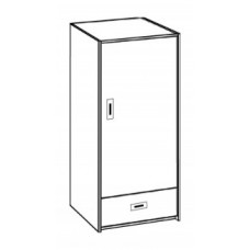 "Contempo Single Door Wardrobe w/1 Bottom Drawer & Clothes Rod, 24""W, 60""H"