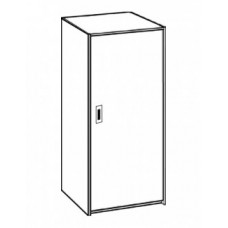 "Contempo Single Door Wardrobe w/Interior Shelf & Clothes Rod, 24""W, 60""H"