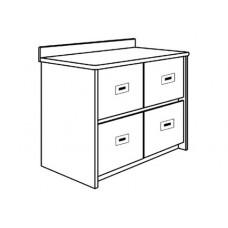 """Contempo Media Cabinet w/4 Drawers, 36""""W"""