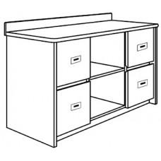 """Contempo Media Storage Cabinet w/4 Drawers & 2 Open Compartments, 48""""W"""