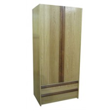 "Homestead Double Door Wardrobe w/2 Bottom Drawers, Interior Shelf & Clothes Rod, 30""W, 78""H"