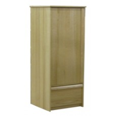 "Homestead Single Door Wardrobe w/1 Bottom Drawer & Clothes Rod, 60""H"