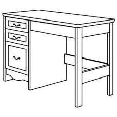 """Madison Open Leg Pedestal Desk w/2 Box Drawers, 1 File Drawer & Pencil Drawer, 42""""W"""