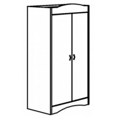 "Madison Double Door Wardrobe w/Interior Shelf & Clothes Rod, 30""W, 60""H"