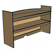 "Madison Double Shelf Carrel w/Closed Back, 42""W"