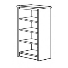 Madison Bookcase w/2 Fixed Shelves & 2 Adjustable Shelves