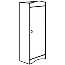 "Madison Single Door Wardrobe w/Interior Shelf & Clothes Rod, 24""W, 60""H"