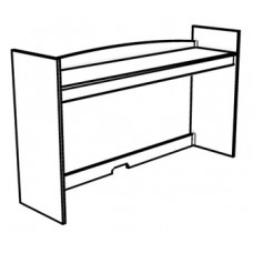 "Madison Single Shelf Carrel w/Closed Back, 36""W"