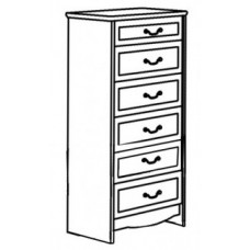 "Madison 6 Drawer Chest w/5 Equal Size Drawers & Smaller Top Drawer, 30""W"