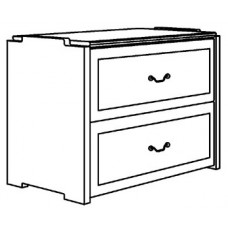 "Madison 2 Drawer Stackable Chest, 30""W"