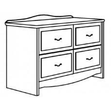 "Madison Media Cabinet w/4 Drawers, 36""W"