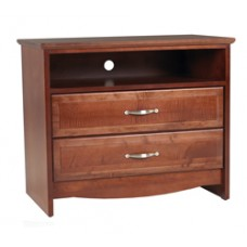 "Madison Media Chest w/2 Drawers & 1 Top Open Compartment, 30""W"