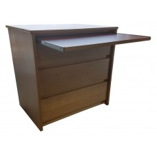 "Nittany Alternative Workspace: 3 Equal Drawer Chest w/Pull-Out Work Surface, 30""W"