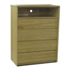 "Nittany Media Chest w/4 Drawers & 1 Top Open Compartment, 30""W"