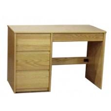 "Nittany Panel End Pedestal Desk w/3 Equal Drawers & 1 Pencil Drawer, 42""W"