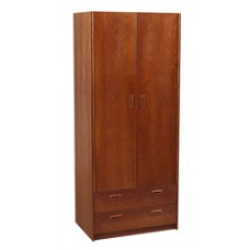 "Nittany Double Door Wardrobe w/2 Bottom Drawers, Interior Shelf & Clothes Rod, 36""W, 78""H"