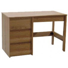 "Nittany Open Leg Pedestal Desk w/3 Equal Drawers & Pencil Drawer, 42""W"