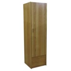 "Nittany Single Door Wardrobe w/1 Bottom Drawer, Interior Shelf & Clothes Rod, 78""H"
