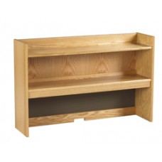 "Nittany Double Shelf Carrel w/Closed Back, 36""W"