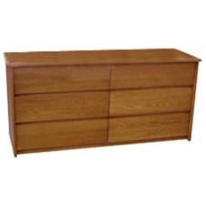 "Nittany Dresser, 6 Drawers, 3 Side by Side, 48""W"