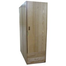 "Nittany Single Door Wardrobe w/1 Bottom Drawer & Clothes Rod, 60""H"