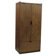 "Sedona Double Door Wardrobe w/1 Bottom Drawer & Clothes Rod, 30""W, 60""H"