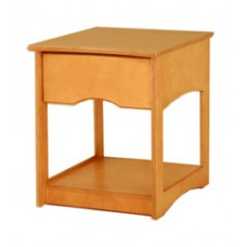 Sedona Nightstand w/Top Drawer, Open Sides & Bottom Shelf