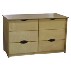 "Sedona Dresser. 6 Drawers, 3 Side by Side, 48""W"