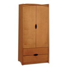 "Sedona Double Door Wardrobe w/2 Bottom Drawers, Interior Shelf & Clothes Rod, 30""W, 78""H"